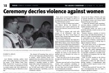 Ceremony decries violence against women (December, 2010)